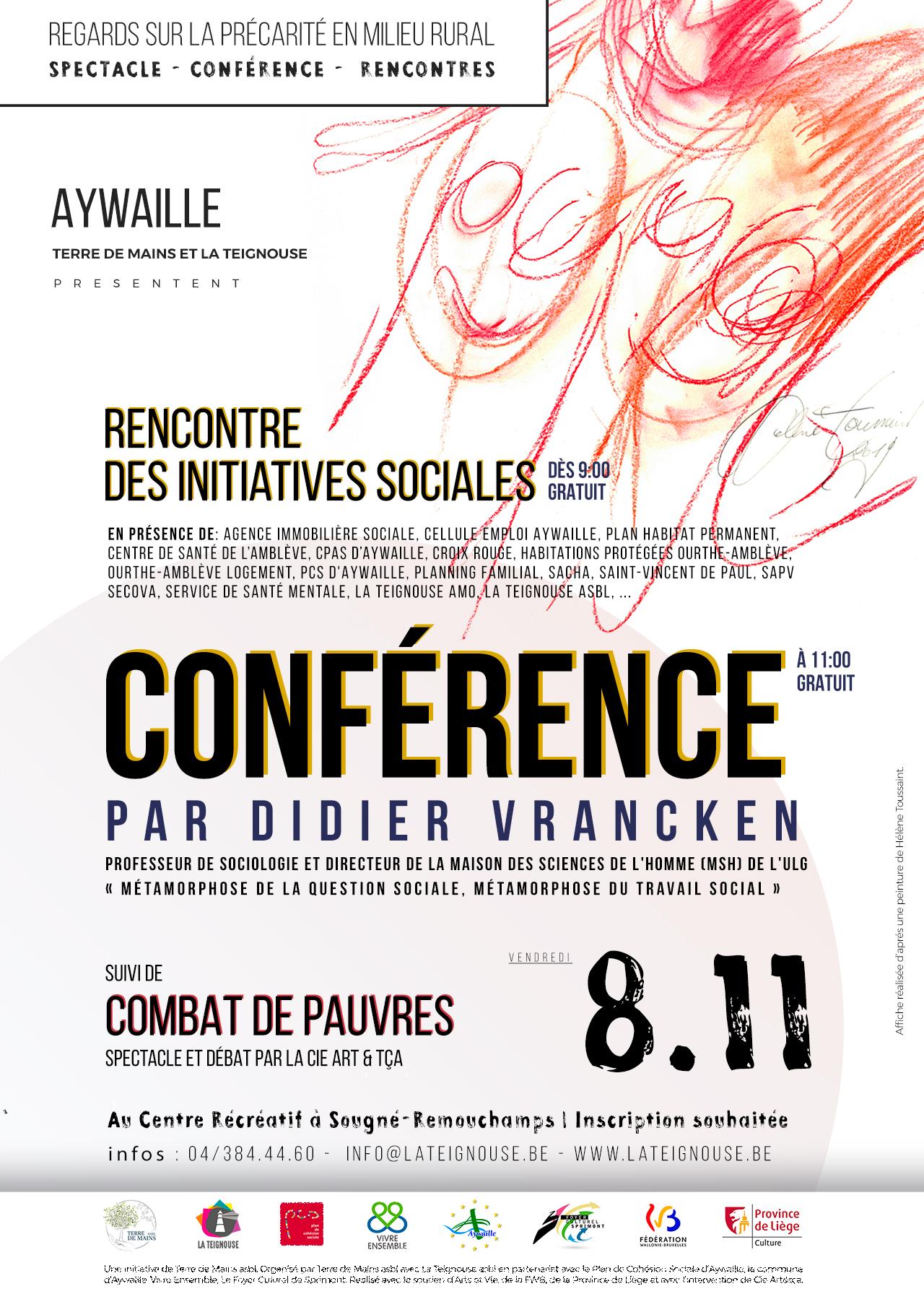 Combat de pauvres : spectacle, conférence et rencontres